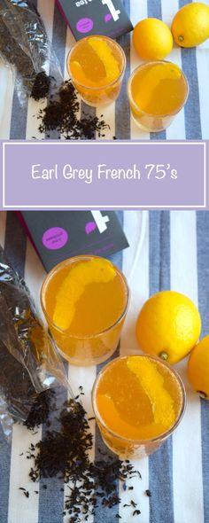 Earl Grey French 75's #cocktail #earlgrey #tea #french75 #gin #lemon