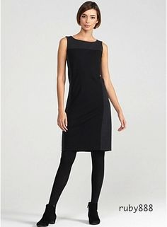 Eileen Fisher black & gray dress.  I adore Eileen Fisher, incredibly well made and fitting designer.  Some pieces are a bit pricey - consider purchasing pre-owned.