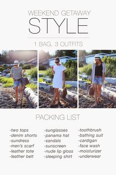 What to Pack for a Weekend Trip | http://www.tovogueorbust.