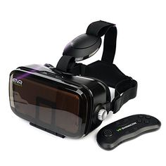 ETVR VR Headset Virtual Reality Glasses - 360 Panoramic with Large Viewing Immersive Experience VR Headset HD VR Goggles for VR Games and Movie Compatible iPhone and Android Smartphone Best Virtual Reality, Virtual Reality Glasses, Virtual Reality Headset, 3d Video, Vr Games, Immersive Experience, Best Iphone, Iphone 7, Home