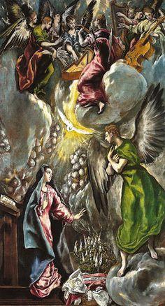El Greco - La Anunciacion, 1600 at Museo Nacional del Prado Madrid Spain