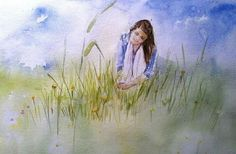 AartiTushar Title : Yellow Dream Watercolor on paper