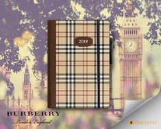 AWESOME BURBERRY -LIKE DIARY ENIRICHED WITH ELASTIC SAFETY RIBBON, PEN CASE W/PEN , ROUNDED ENDINGS. IT COMES IN 4 ARTISTIC IDEAS . Pen Case, Diaries, Burberry, Safety, Ribbon, Things To Come, Awesome, Artist, Ideas