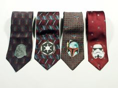 Star Wars Collection ties  4 Old Style Necktie by Muluk on Etsy