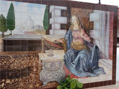Nossa Senhora escutanto o Anjo. Leonardo da Vinci. Ponte de Lousa, Loures.