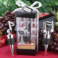 Music Themed Bottle Stopper favors (ASSORTED)