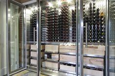 contemporary wine cellar by Vin de Garde Wine Cellars Inc