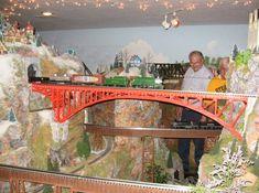 Sweet bridge layout for Lionel Trains