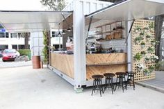 Pop up retail made out of a shipping container.  Get your own shipping container at WesternContainerSales.com