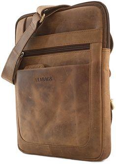 LEABAGS Detroit shoulder bag crossbody bag 10 inch tablet bag leather bag in vintage style Custom Leather Belts, Leather Hats, Leather Luggage, Leather Pouch, Leather Crossbody Bag, Leather Men, Mochila Adidas, Leather Bags Handmade, Small Shoulder Bag