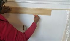 How to Install Picture Frame Moulding Wainscoting - ToolBox Divas Installing Wainscoting, Wainscoting Height, Dining Room Wainscoting, Wainscoting Styles, Wainscoting Panels, Picture Frame Molding, Picture Frames, Stair Paneling, Window Seat Storage