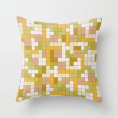 Tetris Camouflage Desert Throw Pillow