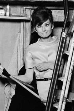 This is a look at Audrey Hepburn beyond the Breakfast At Tiffany's sunglasses. 