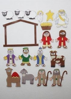 nativity figures to print - iron onto transfer paper - felt