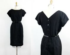Vintage 1950s dress .  Never Look Back  . classic by VoyeurVintage