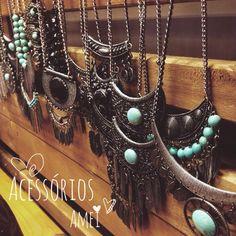 Olha o que da @loja_amei trouxe❤️ ️acessórios lindas... #acessorios #lojaamei #colar #brinco #anel