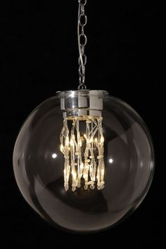 Clear LED Globe Chandelier on @HauteLook