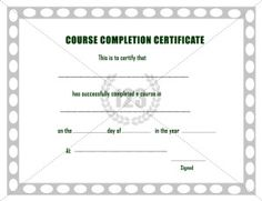 Course completion certificate template certificate of training this will be the best course completion certificate template can be used for course completion in school college short term courses like music dance etc yadclub Gallery