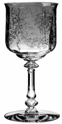 Crystal Stemware | Heisey Orchid Crystal Stemware Pattern