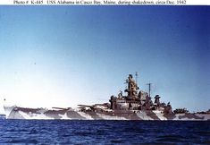 USS Alabama (BB-60) painted in Measure 12 camouflage!
