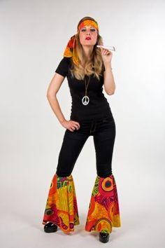 Karneval Zubehör Set Hippie zum 70er Jahre Kostüm zu Fasching