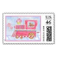 Christmas Train Postage Stamp