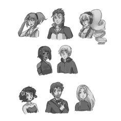 Sonika, Al, Ann, Lola, Leon, Prima, Tonio, and Miriam