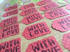 Gift tags perfect for Valentine's day goodies!