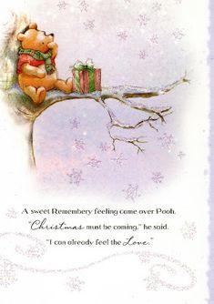 Winnie The Pooh Christmas, Cute Winnie The Pooh, Winnie The Pooh Quotes, Merry Little Christmas, Disney Christmas, Christmas Art, Christmas Holidays, Xmas, Family Holiday