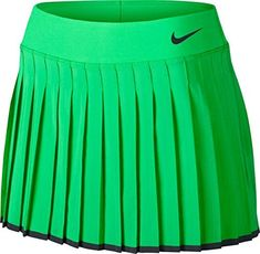 huge discount 289de 32986 Nike Womens Nike Court Victory Tennis Skirt Electro GreenBlack 728773300  Size Medium   You can get more details by clicking on the image.