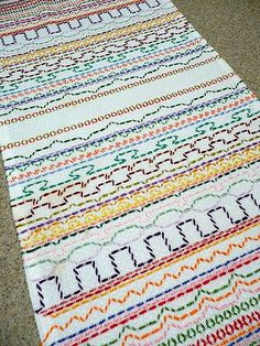 Embroidery Tutorials My first ever embroidery! - I have found my very earliest piece of embroidery. This was started at school when I was in kindergarten (age 5 or We were given a piece of huckaback cloth Swedish Embroidery, Diy Embroidery, Embroidery Stitches, Embroidery Patterns, Free Swedish Weaving Patterns, Monks Cloth, Stitch Book, Sewing Class, Embroidery Techniques