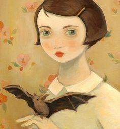Porträt mit Haustier Bat Print 8 x 10 von Emily von theblackapple