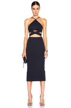 Ponti Wrap Cross Back Dress