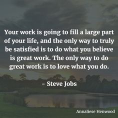 Are you satisfied with your current career path? Your current position? As Steve Jobs put it: you need to love what you do in order to truly produce great work. We spend most of our lives at work so it's important that you have a job that you can commit to enjoy and appreciate. So are you following the advice in this quote? Or is it time for a change? #quote #quotes #quoteoftheday #quotestoliveby #quotesaboutlife #inspiring #inspired #inspiration #inspirationalquotes #inspirational…