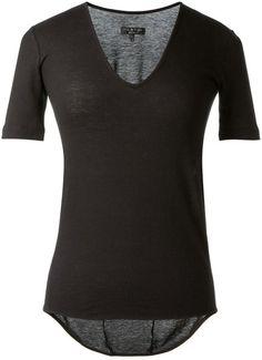 Rag  Bone Ragbone Black Tshirt in Black (bone) #black #goth #style