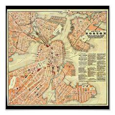 Poster-Vintage Boston Maps-22