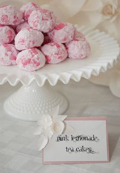 Pink Lemonade Tea Cakes:Tradewind Tiaras: Real Parties: The Secret Garden Baby Shower (And Happy Blog Birthday!)
