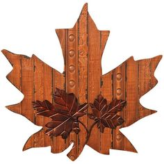 Wooden Maple Leaf Wall Decor ($72) ❤ liked on Polyvore featuring home, home decor, wood home decor, autumn home decor, fall home decor and wooden home decor