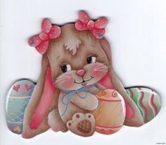 HP BUNNY with Easter Eggs FRIDGE MAGNET