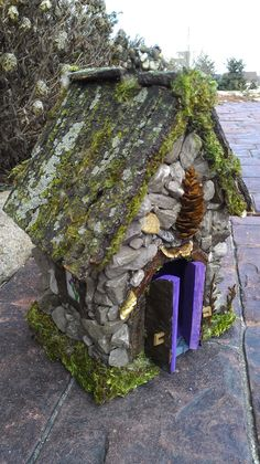 Fairy house handcrafted with forest materials found in Michigan woods.. $99.99, via Etsy.