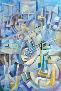 Authentic Original Pierre Poirier OIL Painting Signed ART Cubism Amazing | eBay