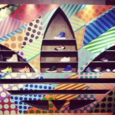 Adidas Originals' Cool Sportswear Pops Up at Space 15 Twenty - Pop-Up Shops - Racked LA-  Fabulous Jason Woodside graphics. Respect that Adidas does not stop when it comes to their creativity and reinvention with different pop-up designs! popuprepublic.com