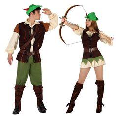 Pareja Disfraces de Hombre y Mujer del Bosque #parejas #disfraces #carnaval