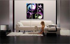 Immagini Design-Immagine Parete Orchidee ASTRATTO DIPINTO SALOTTO ARTE FOTO 110x60cm