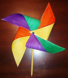 "Pinwheel Craft for Teaching about the Holy Spirit  Target Age: 2nd-5th grade  Key Verse: John 3:8 ""The wind blows where it wishes and you hear the sound of it, but do not know where it comes from and where it is going; so is everyone who is born of the Spirit."""