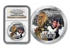 2011 Star Wars Hans Solo Chewbacca Silver Proof-Like Coin Han Solo And Chewbacca, Star Wars Han Solo, World Coins, Sci Fi, Money, Stars, Paper, Silver, Gold
