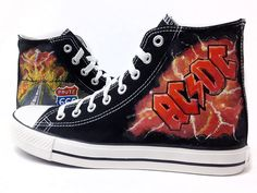 Zapatillas AC-DC :: HIGHWAY TO HELL  www.pimpamcreations.com