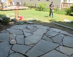 how to make a patio with old stones - Google Search