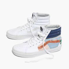 40d9a88369 Madewell x Unfortunate Portrait Hand-Painted Vans® Unisex SK8-Hi High-Top  Sneakers