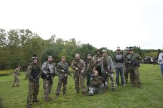 Crosman staff playing airsoft at Black Ops in Penn Yan, NY. Kirby Kiser, Director of Corporate Design for Crosman, was roaming the field taking photos for future marketing use.